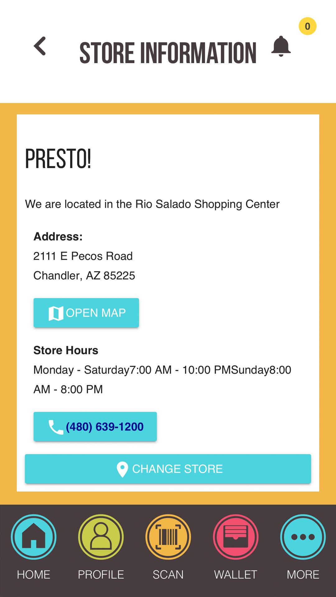 Store Info